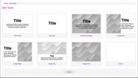 Rejilla de navegación de Twixl Publisher 10